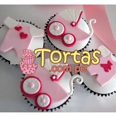 Cupcakes coche de Bebes - Cod:BBC07