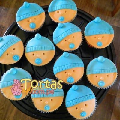 Cupcakes de Bebe Varon - Cod:BBC08