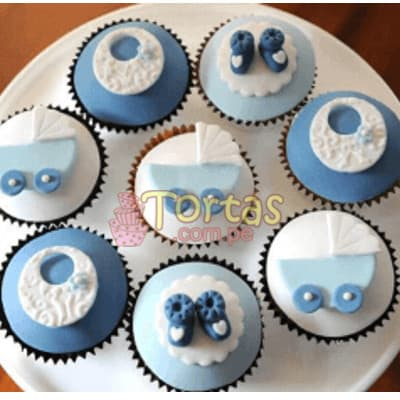 Cupcakes Baby Shower 06 - Codigo:BBC09 - Whatsapp: 980660044