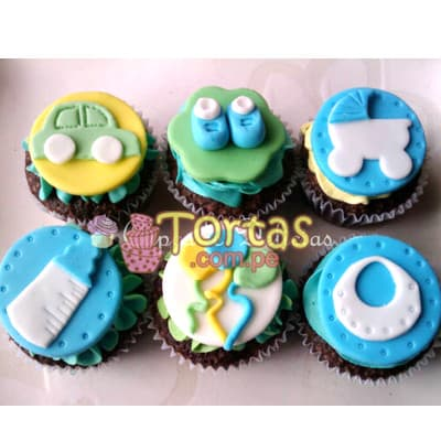 Cupcakes Zapatitos de Bebe - Whatsapp: 980-660044