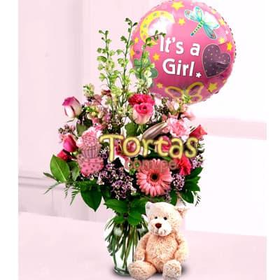 Arreglo Floral para Bebes | Arreglos Florales | Regalos para Bebes - Cod:BBD01