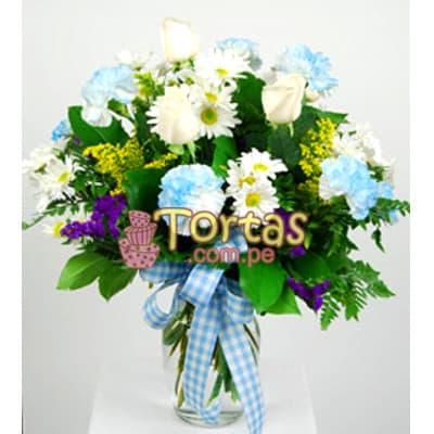Arreglos Florales para Recién Nacidos | Arreglo Floral para Babe Hombre - Cod:BBD02