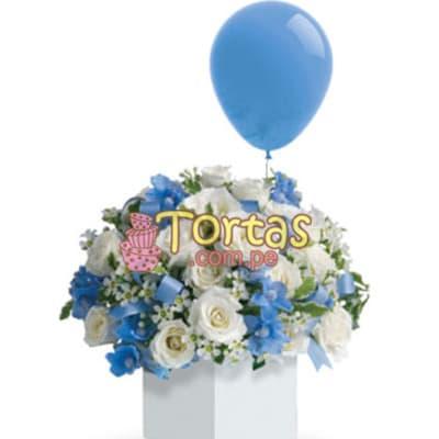 Arreglos Florales Recien Nacidos | Arreglo Floral para Recien Nacido - Cod:BBD03