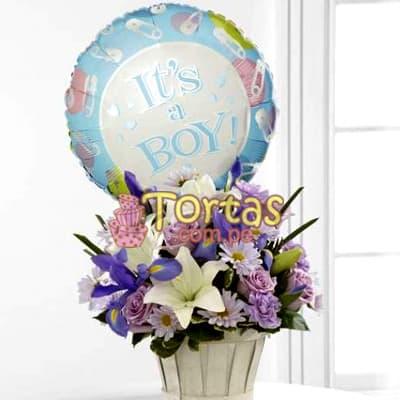Arreglos de Flores para Bebes | Arreglos para Baby Shower | Arreglos Baby Shower - Cod:BBD06