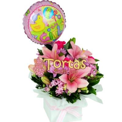Arreglo Floral para Bebes - Mujercita - Cod:BBD07