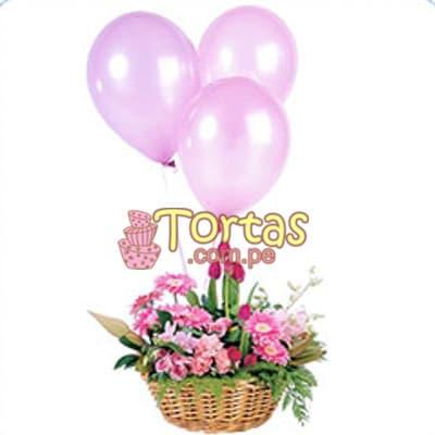 Arreglo Floral para Bebes - Mujercita - Cod:BBD08