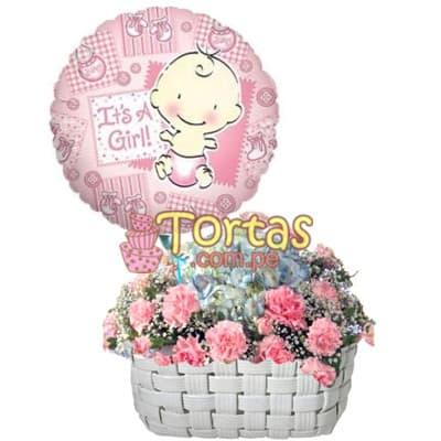 Arreglos Florales para Recién Nacidos | Arreglo Floral para Bebes y Mujercitas - Cod:BBD11