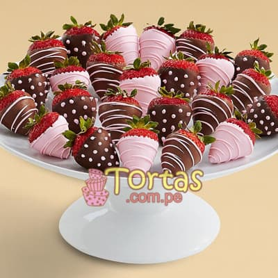 Regalo para recien Nacida - Fresas con Chocolate - Whatsapp: 980-660044