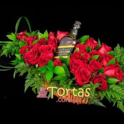 Regalo para recien Nacida - Whiskyy con Rosas - Cod:BBE08