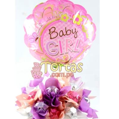 Arreglos de Globos para niños Recien Nacidos | Globos para Recien Nacidos - Cod:BBE12