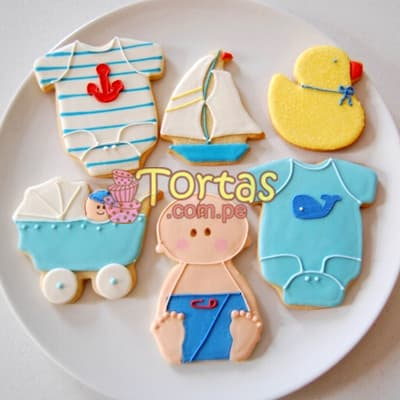 Galletas Decoradas Perú | Galletas Decoradas para Bebe - Cod:BBG01