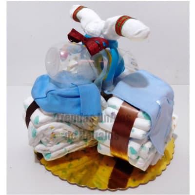 Torta de Pañales con forma de Triciclo - Cod:BBL02