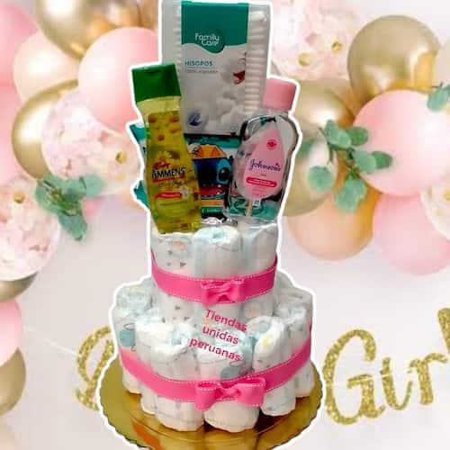 Tortas de Pañales | Torta de Pañales | Regalos para bebes - Cod:BBL06
