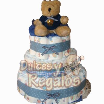 Torta de pañales para Baby Shower Niño | Regalos para Recien Nacidos - Cod:BBS11