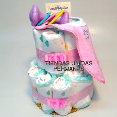 Torta Pañales para bebe | Regalos para Recien Nacidos - Cod:BBS12