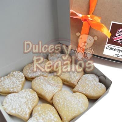 grameco.com - Deliciosos 12 alfajores en forma de corazon, este presente viene en una linda caja.  - Atendemos 24 horas. Llamar al 225-5120 o via Whatsapp: 980-660044