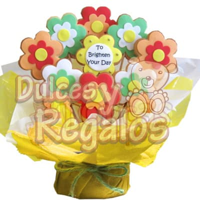 Galletas Art�sticas de Florcitas - Codigo:BBS32 - Whatsapp: 980660044