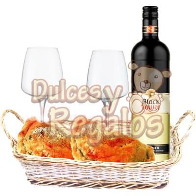 Vino Especial con Copas y gourmet - Cod:BBS33