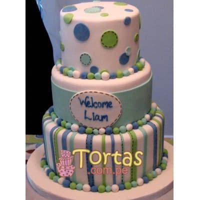 Tortas para Baby Shower | Torba para Recien Nacido - Cod:BBT01