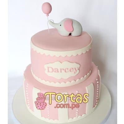 Tortas Para bebes | Torta para bebita - Cod:BBT04
