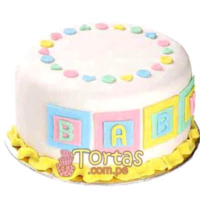 Tortas de Bebes | Torta Baby cubitos - Cod:BBT10