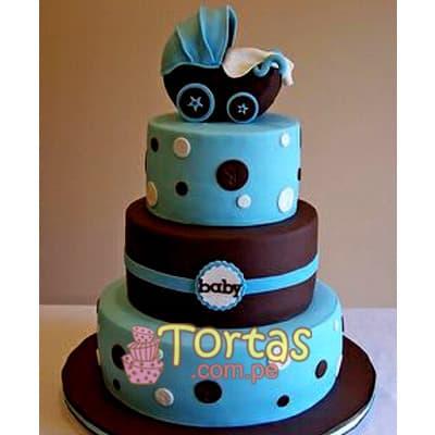 Tortas para un Mes de Nacido | Torta Bebe especial - Cod:BBT12