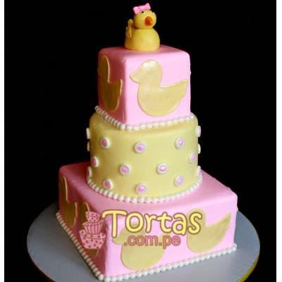 Tortas para un Mes de Nacido | Torta para bebe - Cod:BBT14