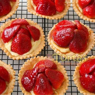 Bocaditos Dulces | Dulces y Bocaditos | Tartaleta de Fresa x 50 - Cod:BDT47