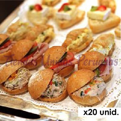 Sandwichs | Mix Sandwichs x 20 - Whatsapp: 980-660044