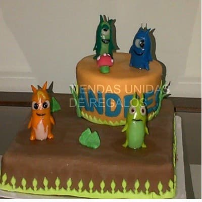 Torta con tema Bajo terra - Whatsapp: 980-660044