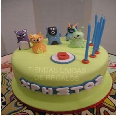 Tortas Infantiles para niños | Torta Bajo Terra | Torta con tema bajoterra - Cod:BJT03