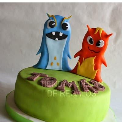 Tortas Infantiles para niños | Torta Bajo Terra | torta de tematica bajoterra - Cod:BJT08