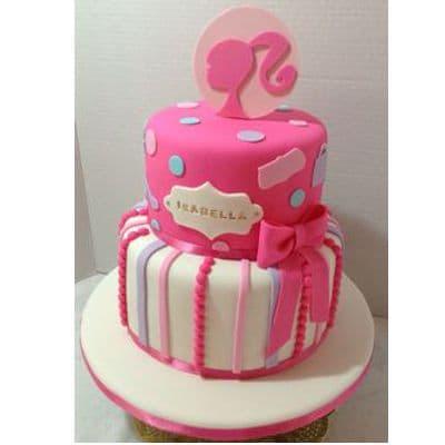 Torta del tema Barbie | Torta Barbie | Tortas de cumpleaños | Tortas Cumpleaños - Cod:BRE04