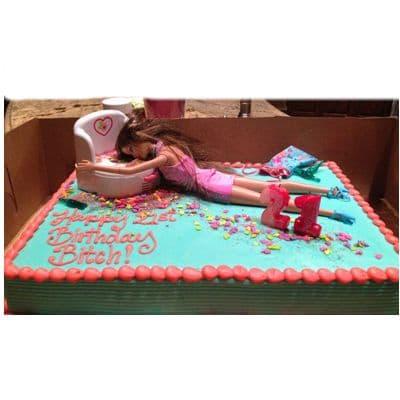 Torta tematica de Barbie | Torta Barbie | Tortas de cumpleaños | Tortas Cumpleaños - Cod:BRE05