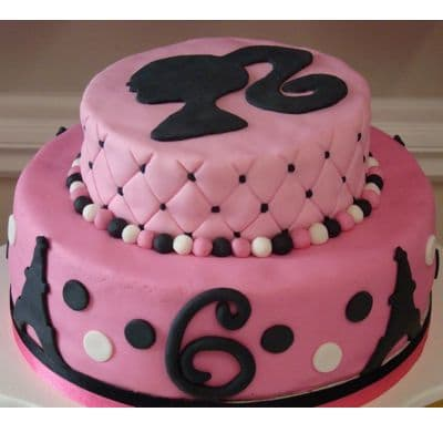 Torta Barbie dos pisos | Torta Barbie | Tortas de cumpleaños | Tortas Cumpleaños - Cod:BRE12