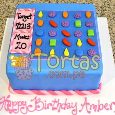 Tortas Candy crush | Torta de Candy Crush | Pastel de dulces - Cod:CCS01