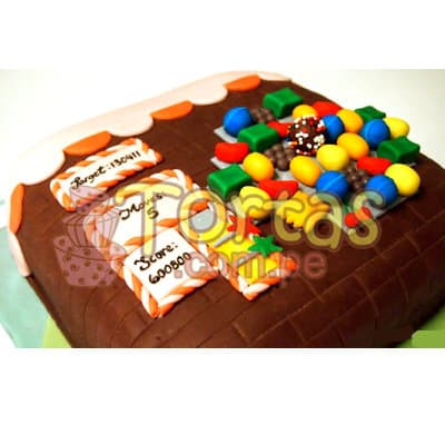 Torta Candy Crush 03 | Torta de Candy Crush | Pastel de dulces - Cod:CCS03
