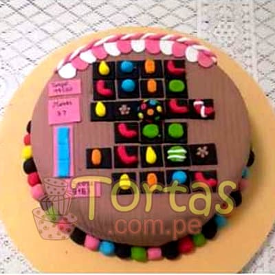Torta Candy Crush 07 | Torta de Candy Crush | Pastel de dulces - Cod:CCS07