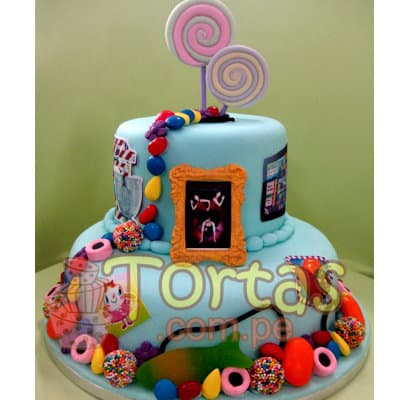 Torta Candy Crush 08 | Torta de Candy Crush | Pastel de dulces - Cod:CCS08