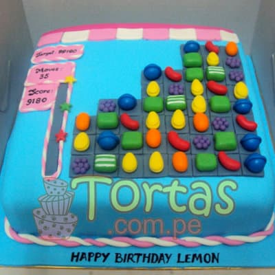 Torta Candy Crush 09 - Whatsapp: 980-660044