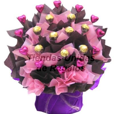 Arreglos de Flores de Chocolate | Bouquete de Chocolate | Regalos con Chocolate  - Cod:CHF15