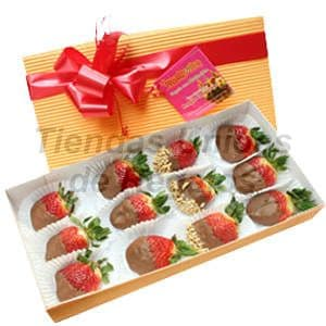 Delivery de Chocolates Para Regalar | Fresas con chocolate en Caja - Cod:CHJ03