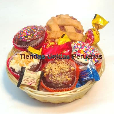 Delivery de Chocolates Para Regalar | Cesta con Chocolates para Regalo - Cod:CHJ09