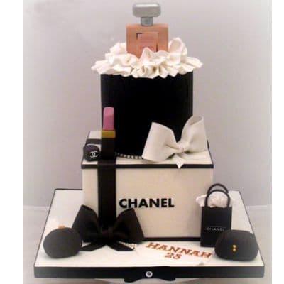 Chanel fondant cake | Torta para chicas |  Pastel de Chanel | Torta Chanel - Cod:CHL01