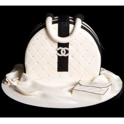 Chanel fondant cake | Torta para chicas |  Pastel de Chanel | Torta con tema chanel - Cod:CHL03