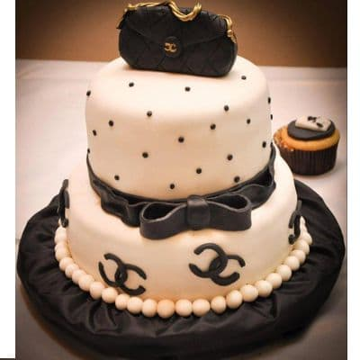 Chanel fondant cake | Torta para chicas |  Pastel de Chanel | Torta Chanel para dama - Cod:CHL04