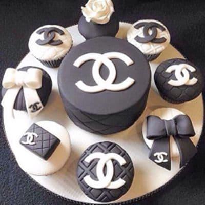 Torta y cupcakes de Chanel - Cod:CHL07