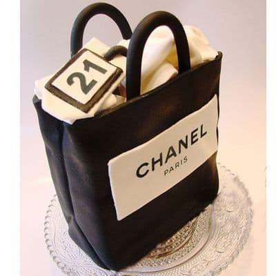 Chanel fondant cake | Torta para chicas |  Pastel de Chanel | Torta bolso Chanel - Cod:CHL08