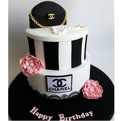 Chanel fondant cake | Torta para chicas |  Pastel de Chanel | Torta con Bolso Chanel - Cod:CHL09