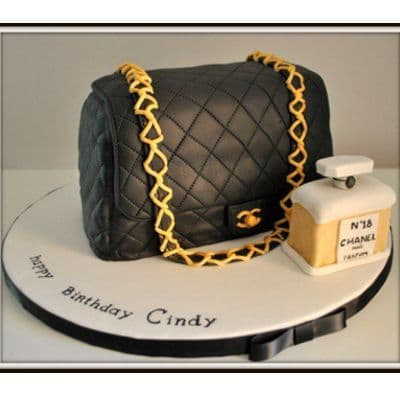 Chanel fondant cake | Torta para chicas |  Pastel de Chanel | Torta Cartera Chanel - Cod:CHL10
